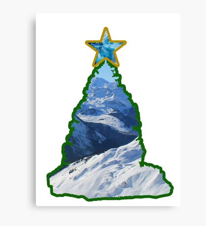 Christmas Tree Snow Scene Canvas Print