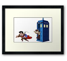 Wrong Phonebooth Framed Print