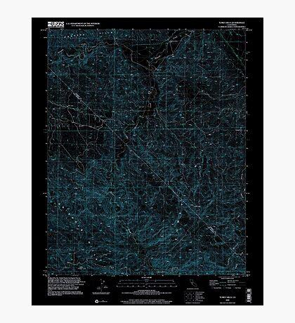 USGS TOPO Map California CA Tumey Hills 102068 2000 24000 geo Inverted Photographic Print
