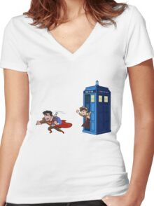 Wrong Phonebooth Women's Fitted V-Neck T-Shirt