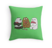 we bare bears Throw Pillow