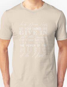 Music of the Night typography Unisex T-Shirt