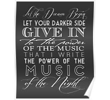 Music of the Night typography Poster