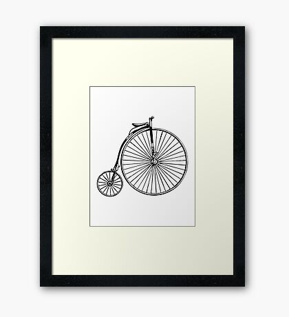 Penny Farthing Bicycle Framed Print