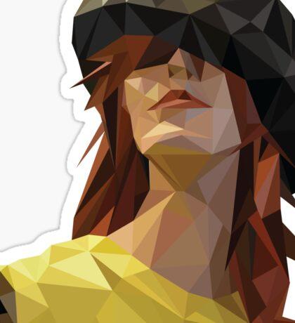 Geometric Lady Sticker
