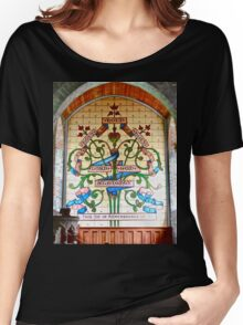Stained Glass Window, St. Columba's Church, Drumcliff,  Sligo, Ireland Women's Relaxed Fit T-Shirt