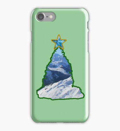 Christmas Tree Snow Scene iPhone Case/Skin