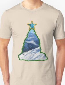 Christmas Tree Snow Scene Unisex T-Shirt