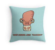 Lil Ackbar Throw Pillow
