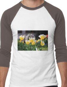 Bright tulips Men's Baseball ¾ T-Shirt