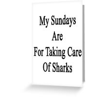 My Sundays Are For Taking Care Of Sharks  Greeting Card
