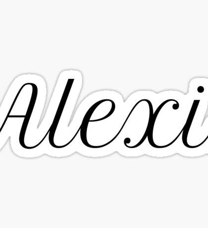 Alexis Sticker
