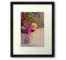 Garden Fresh Bouquet Framed Print