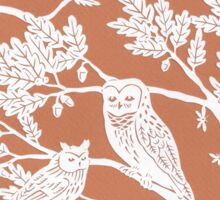 Brown Oak Paper Cutting Sticker