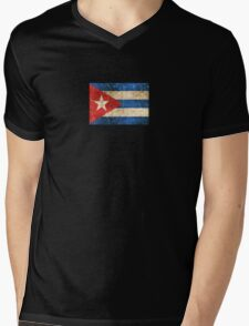 Vintage Aged and Scratched Cuban Flag T-Shirt