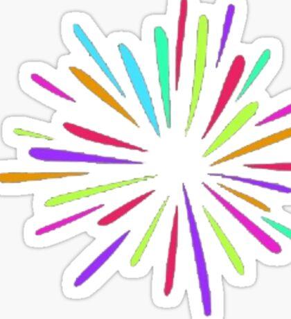 Rainbow burst Sticker
