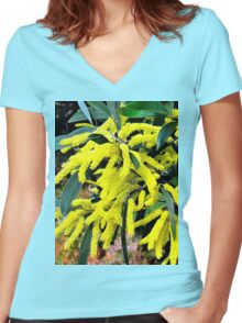 Wattle Women's Fitted V-Neck T-Shirt