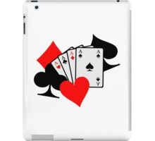Poker signs cards iPad Case/Skin