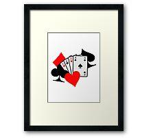 Poker signs cards Framed Print