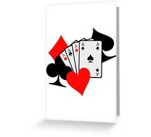 Poker signs cards Greeting Card