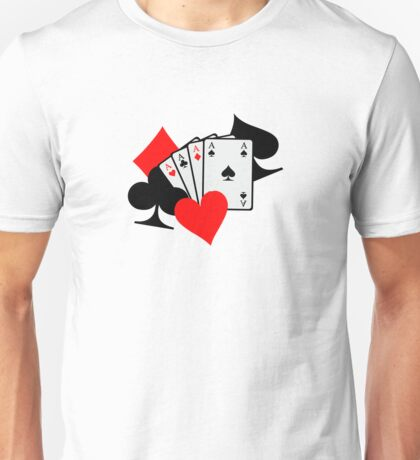 Poker signs cards Unisex T-Shirt