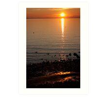 Sunset Over Water Art Print