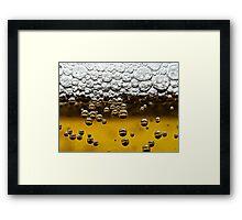 Beer close up Framed Print