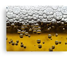 Beer close up Canvas Print