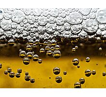 Beer close up Photographic Print