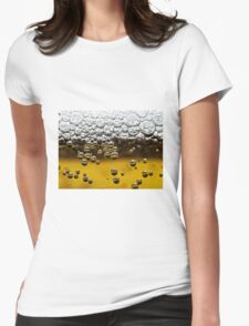 Beer close up Womens Fitted T-Shirt