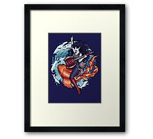 Daddy's Little Monster Framed Print