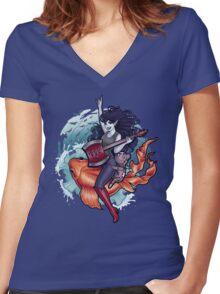 Daddy's Little Monster Women's Fitted V-Neck T-Shirt