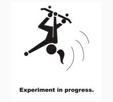 Experiment In Progress - Skateboarding (Sticker) by Laboratory424