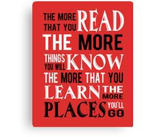 Dr Suess The Places You'll Go Canvas Print