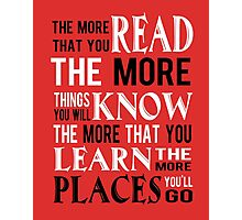 Dr Suess The Places You'll Go Photographic Print