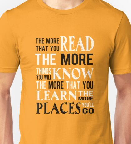 Dr Suess The Places You'll Go Unisex T-Shirt