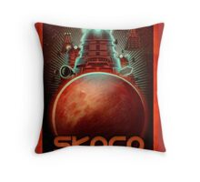 Skaro Travel Postcard Throw Pillow