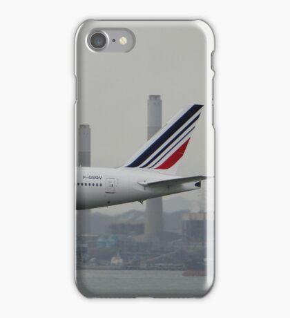 Air France 777-300ER Landing in HKG iPhone Case/Skin