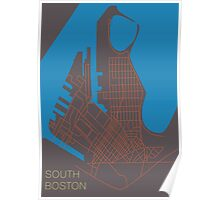 South Boston-Road Map Poster