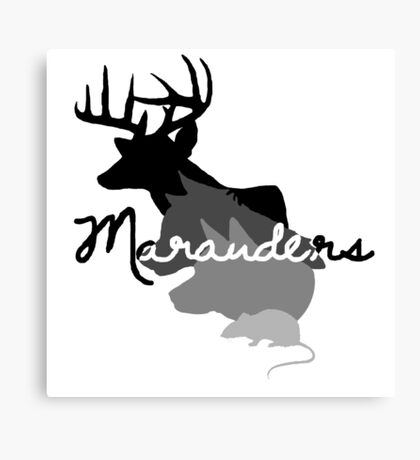moony padfoot prongs & wormtail Canvas Print