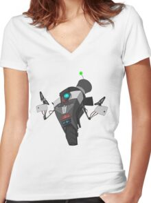 Fancy Claptrap Sticker Women's Fitted V-Neck T-Shirt