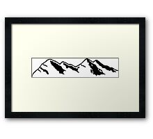 Mountains 2 Framed Print