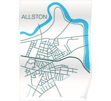 Allston-Road Map Poster