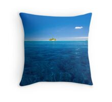"""A Little White Cloud"" - Indian Ocean, Cocos (Keeling) Islands Throw Pillow"
