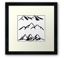 Mountain Series  Framed Print