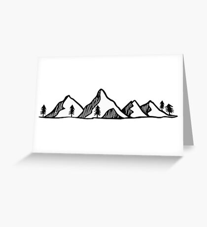 Mountains 3 Greeting Card