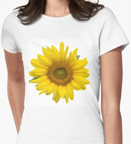 Sunflower Thoughts on a Winter Day Womens Fitted T-Shirt