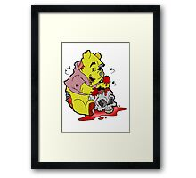 Zombie Pooh Framed Print