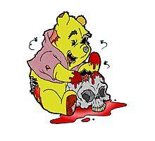 Zombie Pooh Photographic Print