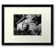 Black and White of a Small House  Framed Print